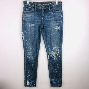 Goldsign Fronter Splotched Splatter Skinny Jeans